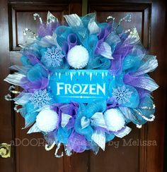 You will not find a wreath like this ANYWHERE else! It is perfect for your front door, as well as decor for a birthday party! The hand