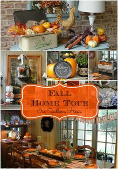 Fall Home Tour {Virtual} - Our Southern Home Fall Home Decor, Autumn Home, Autumn Decorating, Decorating Ideas, Decor Ideas, Interior Decorating, Image Deco, Autumn Crafts, Thanksgiving Decorations
