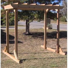 TMP Outdoor Furniture Large Cedar Pergola Arbor Swing Frame Could this be made long enough to give shade on front picture window and then have swing? Diy Pergola, Cedar Pergola, Small Pergola, Pergola Canopy, Outdoor Pergola, Pergola Lighting, Pergola Ideas, Small Patio, Outdoor Shade