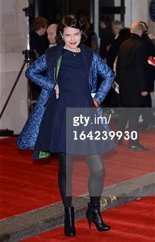 Search - Getty Images UK: elizabeth mcgovern wearing henrietta ludgate coat and wool crepe dress