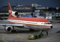 Frankfurt 20 years ago LTU Tristar 'D-AERE' by 'Longreach' by Jonathan McDonnell Boeing Planes, Old Planes, Passenger Aircraft, Military Jets, Commercial Aircraft, Civil Aviation, Wide Body, Jet Plane, Made In France