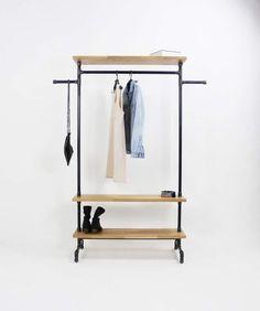 industriedesign schuhregal metall vintage loft von stahlrohr art garderoben von stahlrohr art. Black Bedroom Furniture Sets. Home Design Ideas