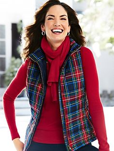 Talbots - Macbeth Plaid Puffer Vest | Coats and Outerwear |