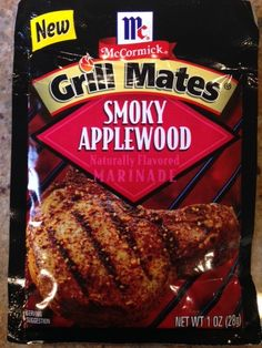 Gluten Free Product Review - McCormick Smokey Applewood Grill Makes Marinade