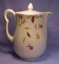 Hall China Autumn Leaf Teapot.  My husband's mother had a whole set of this pattern.  I didn't like it them but it would be nice to have it now.