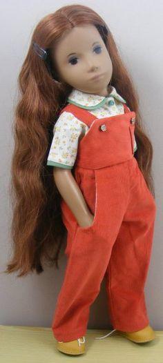 Sasha Doll SASHA CORD DUNGAREES OUTFIT Gotz Dolls, Ag Dolls, Doll Toys, Casual Dress Outfits, Summer Dress Outfits, Doll Outfits, Sasha Doll, Ag Doll Clothes, Bear Doll