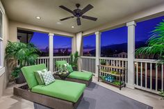 Camellia at Rosedale - Azusa new homes - plan 1 - deck