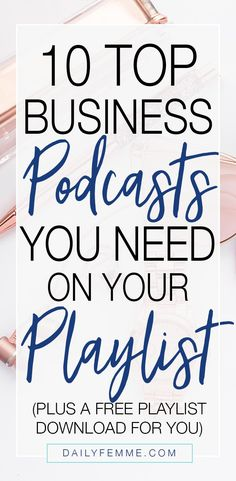 Listening to business podcasts is one of my favourite ways to feel like I'm working and getting things done when I can't work otherwise. Here's my top 10 business podcasts you really, really should be listening to, as well as a free playlist download. Hel