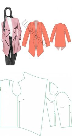 Motif manteau d& veste Dress Sewing Patterns, Clothing Patterns, Fashion Sewing, Diy Fashion, Sewing Hacks, Sewing Tutorials, Sewing Blouses, Diy Couture, Sewing Class