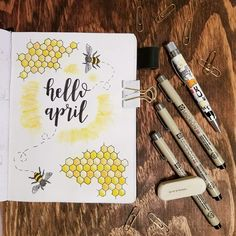 April 2019 Bullet Journal: Plan this month with our Bujo ideas. Get ideas from our printable Bullet Journals of April month to make plannings for new tasks and set new goals. Planner Bullet Journal, April Bullet Journal, Bullet Journal Headers, Bullet Journal Monthly Spread, Bullet Journal Font, Bullet Journal Printables, Bullet Journal Aesthetic, Bullet Journal School, Bullet Journal Ideas Pages