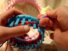 Loom Knit - Simple Bind Off - Cast a circular item off the round loom while maintaining a large circular opening in the project.