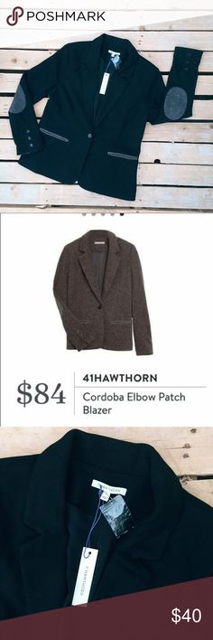 41HAWTHORN STITCH FIX elbow patch black blazer XL New with tags   This is from a Stitch Fix Collection  Bundle and save I'll send a private offer after you bundle.  41Hawthorn Jackets & Coats Blazers