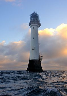 Winter sunrise at the Bell Rock lighthouse (12 miles off of Arbroath), Angus, Scotland.
