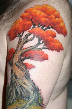 nicely shaded, great visual deptch in this #Tree #Tattoo