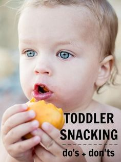 Tips for baby and toddler snacking habits. If you get the eating/snacking ratio and habits down you are destined for well rested and contented kids!