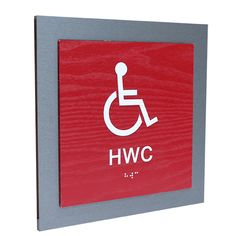 Make it easy for people with  visual impairment and who don't know your language, to navigate in your premises. This is a tactile pictogram with contrasting colors and braille with a wood pattern. www.jcgt.se