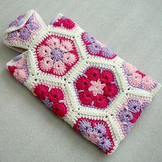 Crochet eau chaude bouteille couvercle de bouteille d'eau chaude fleur cosy, africaine