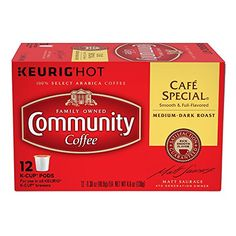 Community Coffee Single-Serve Cups for Keurig K-Cup Brewers - Cafe Special - 12ct Box