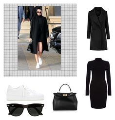 """""""Kendall Jenner , Look , N1"""" by mathis-weks on Polyvore featuring mode, Phase Eight, Fendi, Loro Piana et Ray-Ban"""