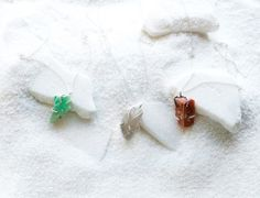 These naturally beautiful necklaces are handmade by Emilie Shapiro from raw gemstones.   $88- $120   UncommonGoods