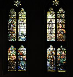 Tiffany windows at the Church of the Covenant, Boston, MA. To the left: The Glorified Christ, and to the right, The Ascended Christ.