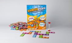 The Game of Random Thinking What crazy ideas fly out of your mouth when you're under pressure? Whatever they are, this word game will add laughs to your next party. Here's your recipe for fun:  Grab 10 Randomonium word tiles. Flip over the 20-second timer. Frantically think of ways to link the words on your tiles to the words that