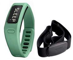 Garmin vivofit™ Teal Bundle Displays Steps, Calories & Distance.