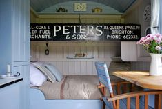 Peek Inside This Cheerful English Shepherd's Hut - Canopy & Stars Vacation Homes Compact Living, Tiny Living, Living Spaces, Style At Home, Canopy And Stars, English Shepherd, Bedroom Nook, Mini Loft, Tiny House Blog