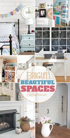 I love seeing rooms transform and come to life. Here are 8 Bright Beautiful Spaces that inspired me, and hopefully they will inspire you too! Organising Tips, Organisation Hacks, Organizing, Home Design Decor, House Design, Home Decor, Diy Ideas, Decor Ideas, Diy House Projects