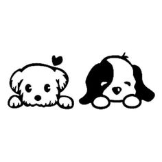 Puppy Love - Vinyl Decal Wall Art Puppy Love - Vinyl Decal Wall Art by BadFishDecals on Etsy www. Vinyl Wall Decals, Window Decals, Macbook Decal Stickers, Car Decal, Wall Stickers, Vinyl Projects, Easy Drawings, Doodle Art, Painted Rocks
