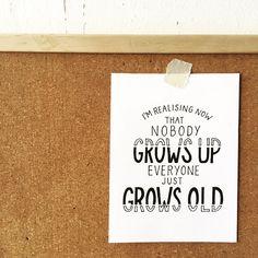 #manyemmas #typography #lettering #handlettering #nobody #growsup #everybody #growsold