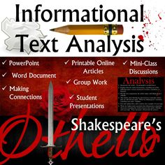 Othello: Exploring Central Ideas with Informational Articles English Language, Language Arts, Teacher Resources, Teaching Ideas, Making Connections, Othello, Love My Kids, School Style, Group Work