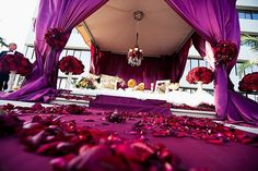 Deep purple and red wedding sofreh design