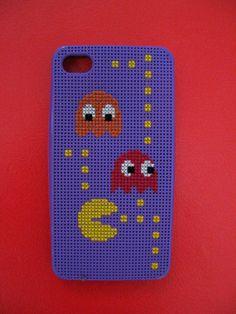 Cross stitch iPhone case - Pacman