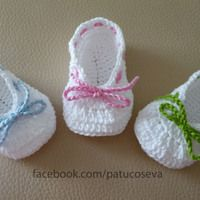 Crochet Pattern - Strappy Ballet Flats - 3 variations included - baby - Newborn, and months Crochet Baby Dress Free Pattern, Crochet Shoes Pattern, Baby Boy Knitting Patterns, Baby Shoes Pattern, Baby Knitting, Crochet Patterns, Baby Girl Sandals, Crochet Baby Sandals, Crochet Baby Booties