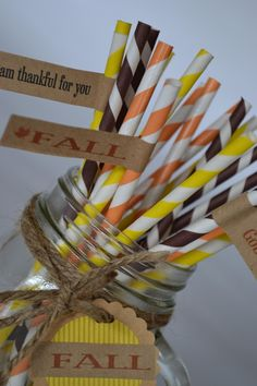 50 Vintage Paper Straws- 30 Colors and Patterns to Choose From at VeryJane.com