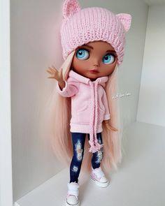 Ooak Dolls, Blythe Dolls, Valley Of The Dolls, 18 Inch Doll, Custom Dolls, Doll Face, Doll Clothes, Barbie, Crochet Hats