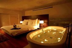 Space Saving Bathroom, Hotels In Turkey, Casa Clean, Romantic Surprise, Romantic Room, Romantic Night, Romantic Bedrooms, Romantic Ideas, Amazing Bedrooms