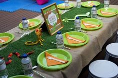 Boy's Rad Reptile Birthday Party - Spaceships and Laser Beams