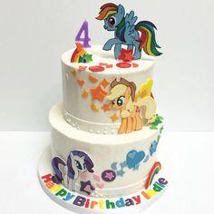 My Little Pony Cake by Nicole @coleturecosplay #deliciousarts #custom #cakes #mylittlepony #rainbow #pony #birthdaycake #westpico #westla #ranchopark #losangeles #bakery