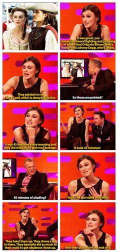 Keira Knightley and her boob talk. - Imgur