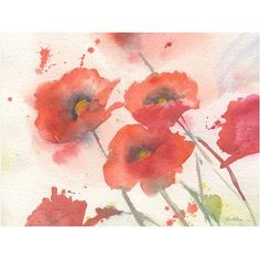 Trademark Art Swaying Red Poppies Canvas Art by Shelia Golden, Size: 35 x 47, Multicolor
