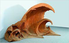 Wood Waves by Italian Sculptor Mario Ceroli. (via #Juxtapoz Magazine)