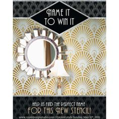 """Inspiration for Stencils, Stenciling, Patterns and DIY Home Decor tagged """"Wall Stencils"""" Page 6   Royal Design Studio"""