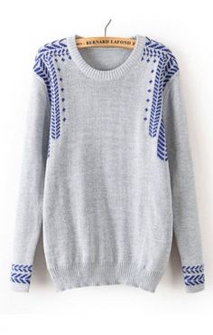 I LOVE shirts/sweaters that have great detailing and I can throw on with jeans and look cute and pulled together. Love royal blue and the detailing is so cute!
