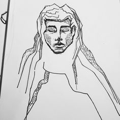 Graphic Portrait Liner Pen