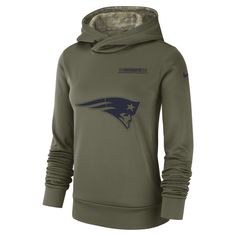 5d371e5f5 Nike Therma Salute to Service (NFL Patriots) Women s Hoodie Size XS (Olive  Canvas