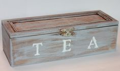 A great finishing touch for a rustic kitchen. Rustic Tea Box by ChunksBabyJunk on Etsy, $22.00
