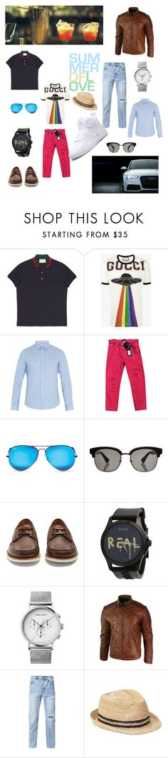 """casual sport for men"" by nika-baronovskaya on Polyvore featuring Gucci, Dsquared2, Ray-Ban, Georg Jensen, Ksubi, Gap, men's fashion and menswear"