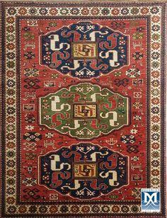 Armenian Khndzoresk-dragon rug by Megerian Carpet Company, handmade, wool, antique design. Diy Carpet, Modern Carpet, Rugs On Carpet, Stair Carpet, Cheap Carpet, Carpet Ideas, Persian Rug, Floor Rugs, Rugs